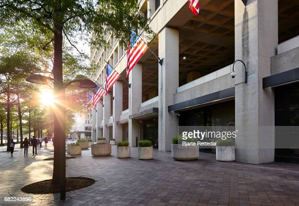 Entrance to the J Edgar Hoover Building in Washington DC