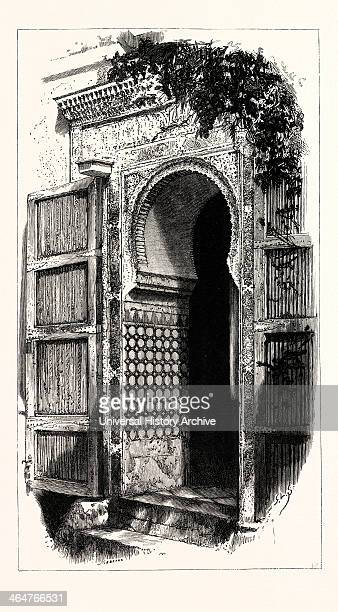 Entrance To The Mezquita Granada Spain