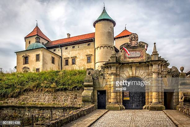 Entrance to the New Wisnicz castle, Poland