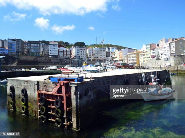 Entrance to the port of the fishing village of Malpica in Galicia