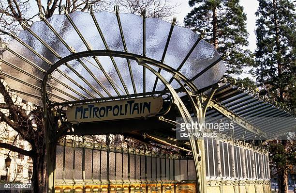 Entrance to the Porte Dauphine metro station Paris metro architect Hector Guimard Paris France 20th century