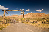 Entrance to the ranch, wild west