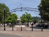 Entrance to the Royal Avenue Gardens Dartmouth Devon UK