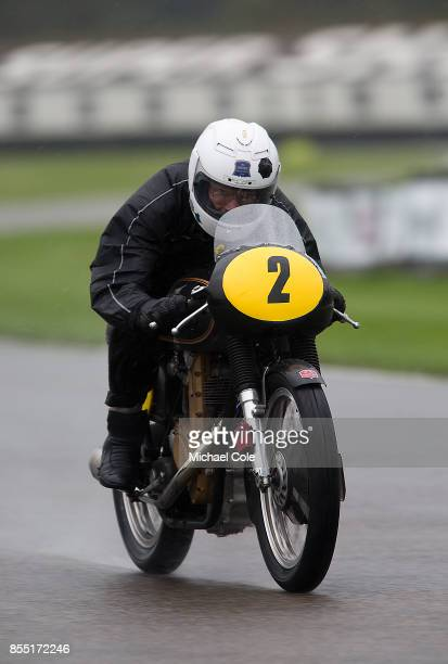 AJS 500 entrant Andrew French ridden by Roger Ashby Tim Jackson in the Barry Sheene Memorial Trophy at Goodwood on September 8th 2017 in Chichester...