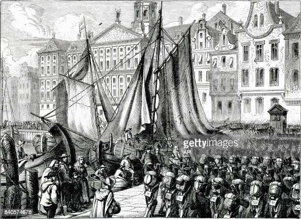 Entrée des troupes de Napoléon à Amsterdam en 1809