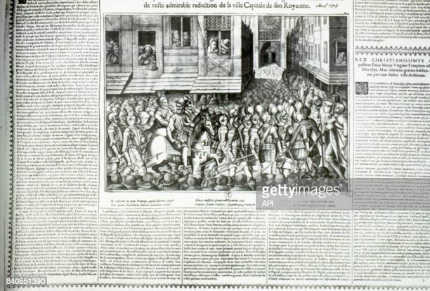 Entrée d'Henri IV à Paris après son sacre le 22 mars 1594 France