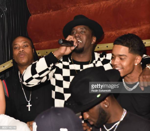 Entrepreneur and artist Diddy performs on stage with son Justin Combs at WanderLuxxe Bad Boy Heights Entertainment present a pre BET Awards event...