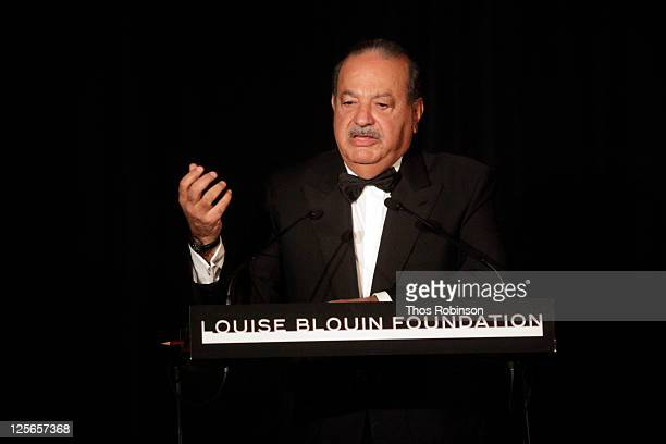 Entrepreneur and award recipient Carlos Slim Helu attends The Louise Blouin Foundation Presents The Fifth Annual Blouin Creative Leadership Summit...
