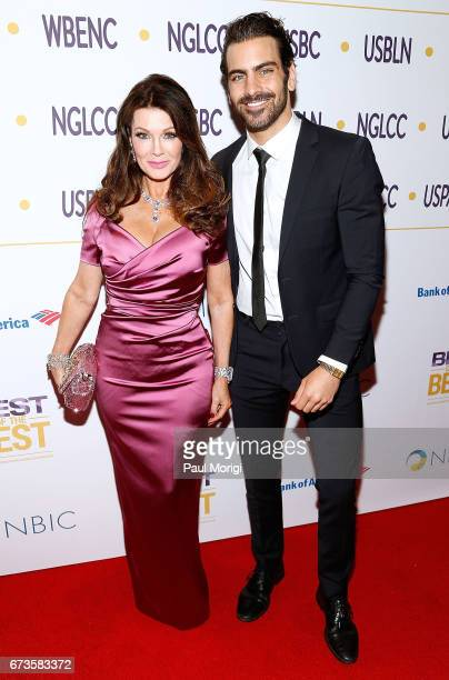 Entrepreneur and LGBT advocate Lisa Vanderpump and advocate for the deaf community and model Nyle DiMarco attend the 2017 NGLCC National Business...