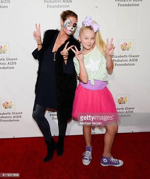 Entrepreneur and model Heidi Klum and dancer JoJo Siwa arrive at Elizabeth Glaser Pediatric Aids Foundation 'A Time For Heroes' Family Festival at...