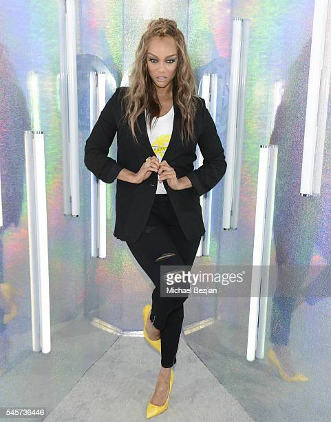 Entrepreneur and model Tyra Banks poses for portrait at the 4th Annual Beautycon Festival Los Angeles at Los Angeles Convention Center on July 9 2016...