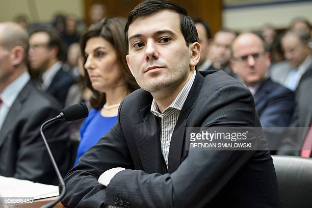 Entrepreneur and pharmaceutical executive Martin Shkreli listens during a hearing of the House Oversight and Government Reform Committee on Capitol...