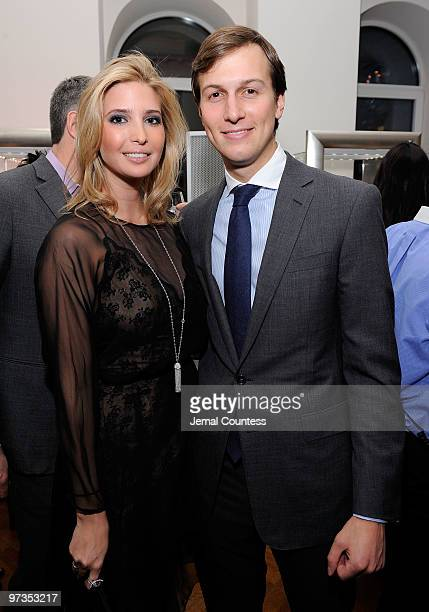 Entrepreneur and socialite Ivanka Trump and businessman Jared Kushner attend the Ivanka Trump Fine Jewelry Collection Launch Benefitting The United...