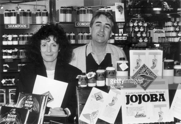 Entrepreneur Anita Roddick Chief Executive of the Body Shop chain in one of her stores The shops sell toiletries and cosmetics manufactured without...