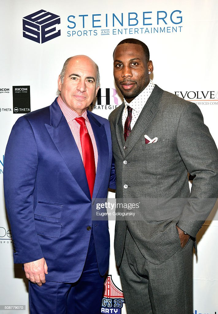 Entrepreneur Cosmo DeNicola and professional football player <a gi-track='captionPersonalityLinkClicked' href=/galleries/search?phrase=Anquan+Boldin&family=editorial&specificpeople=182484 ng-click='$event.stopPropagation()'>Anquan Boldin</a> attend the 29th Annual Leigh Steinberg Super Bowl Party on February 6, 2016 in San Francisco, California.