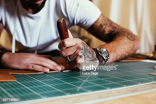 Entrepreneur craftsman at work