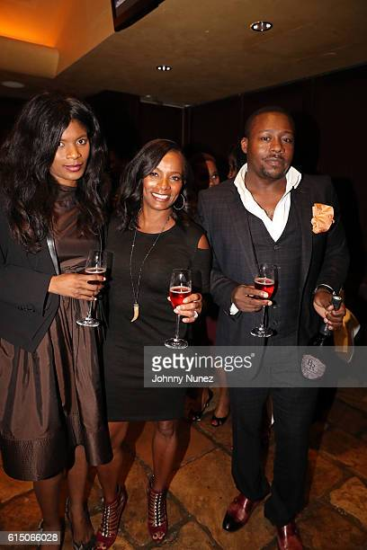 Entrepreneur Danni Benson actress Vanessa Bell Calloway and Billionaires Row Founder/CEO William Benson attend the LFZ Partnership Dinner at Del...