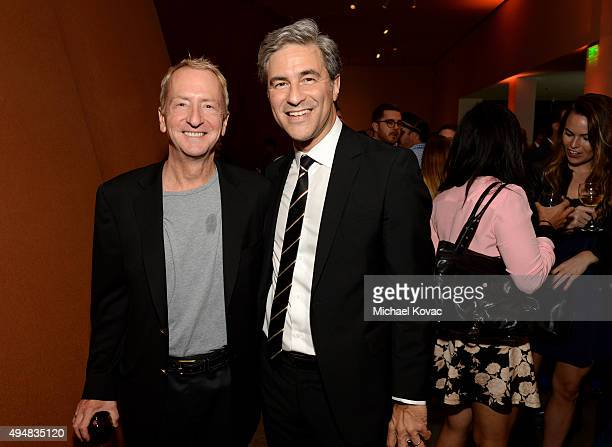 Entrepreneur David Bohnett and CEO and Wallis Annenberg Director of LACMA Michael Govan celebrate with RH Restoration Hardware for the unveiling of...