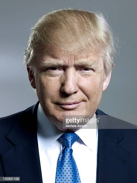 Entrepreneur Donald Trump is photographed for Bloomberg Businessweek on April 25 2011 in New York City ON EMBARGO UNTIL AUGUST 02 2011