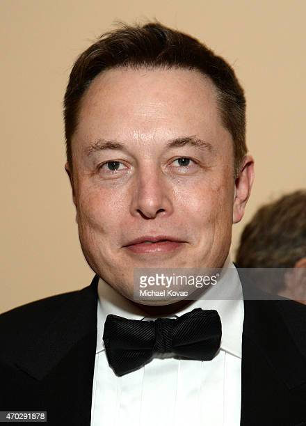 Entrepreneur Elon Musk attends LACMA's 50th Anniversary Gala sponsored by Christie's at LACMA on April 18 2015 in Los Angeles California