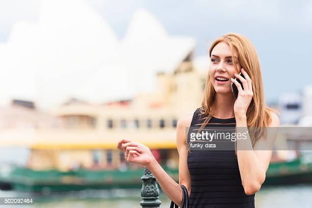 Entrepreneur having a call in Sydney