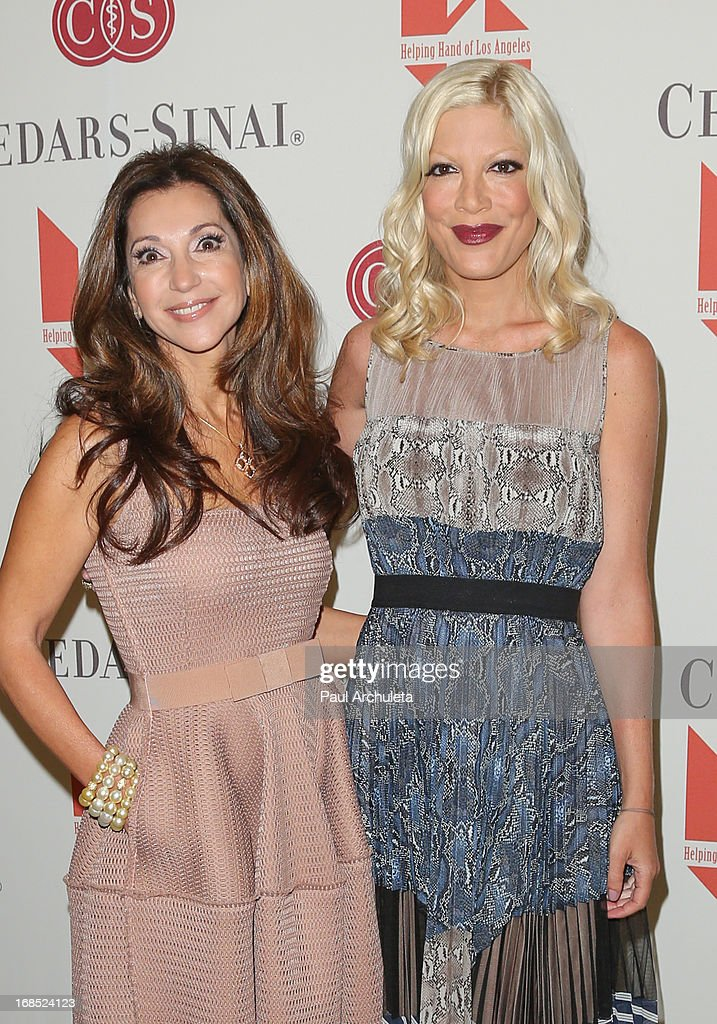Entrepreneur / Philanthropist Lea Porter (L) and Actress <a gi-track='captionPersonalityLinkClicked' href=/galleries/search?phrase=Tori+Spelling&family=editorial&specificpeople=202560 ng-click='$event.stopPropagation()'>Tori Spelling</a> (R) attend the Helping Hand of Los Angeles' 84th annual Mother's Day luncheon at the Beverly Hills Hotel on May 10, 2013 in Beverly Hills, California.