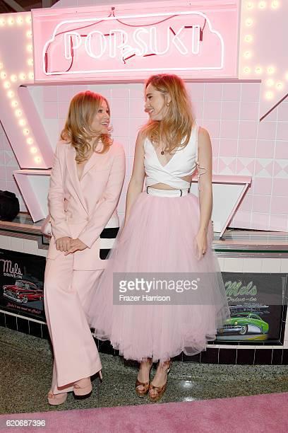 Entrepreneur Poppy Elizabeth Jamie and actress Suki Waterhouse attend Poppy Jamie Suki Waterhouse Leo Seigal and Cade Hudson celebration of the...