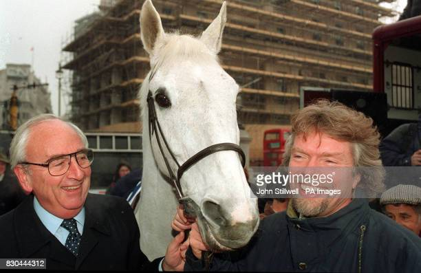 Entrepreneur Richard Branson and Lord Young enlist the help of National Hunt Champion race horse Desert Orchid to deliver their application to run...
