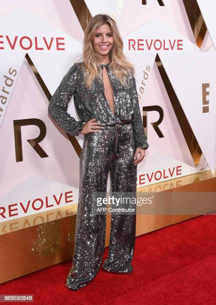 Entrepreneur Tash Oakley attends the first annual #REVOLVEawards at the Dream Hotel in Hollywood on November 2 2017 / AFP PHOTO / CHRIS DELMAS