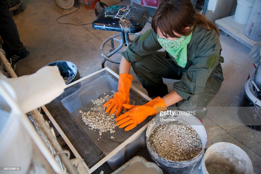 Entrepreneur working in workshop
