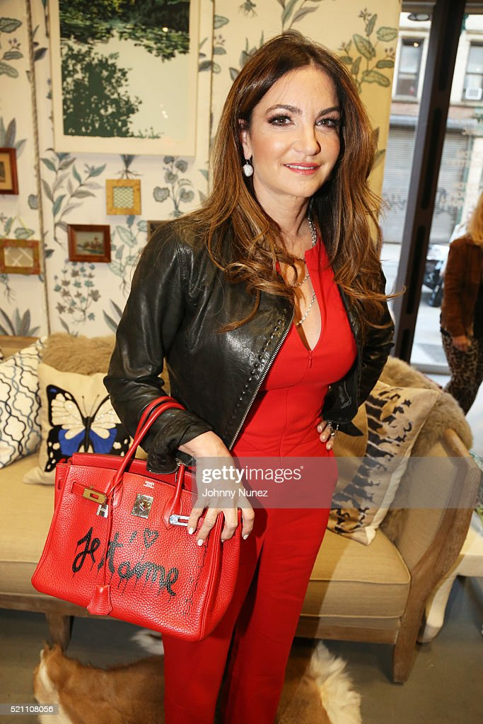 Entrepreneur/philanthropist Beth Shak attends the launch of Madcap Cottage For Robert Allen at Zarin Fabrics on April 13, 2016, in New York City.