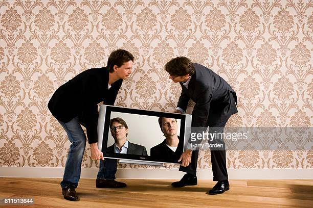 Entrepreneurs and cofounders of Skype Janus Friis Niklas Zennstrom are photographed on August 12 2010 in London England