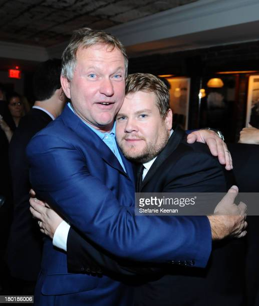 Entrepreneur/Soho House founder and owner Nick Jones and actor James Corden at the Grey Goose vodka party for The Weinstein Company and eOne...