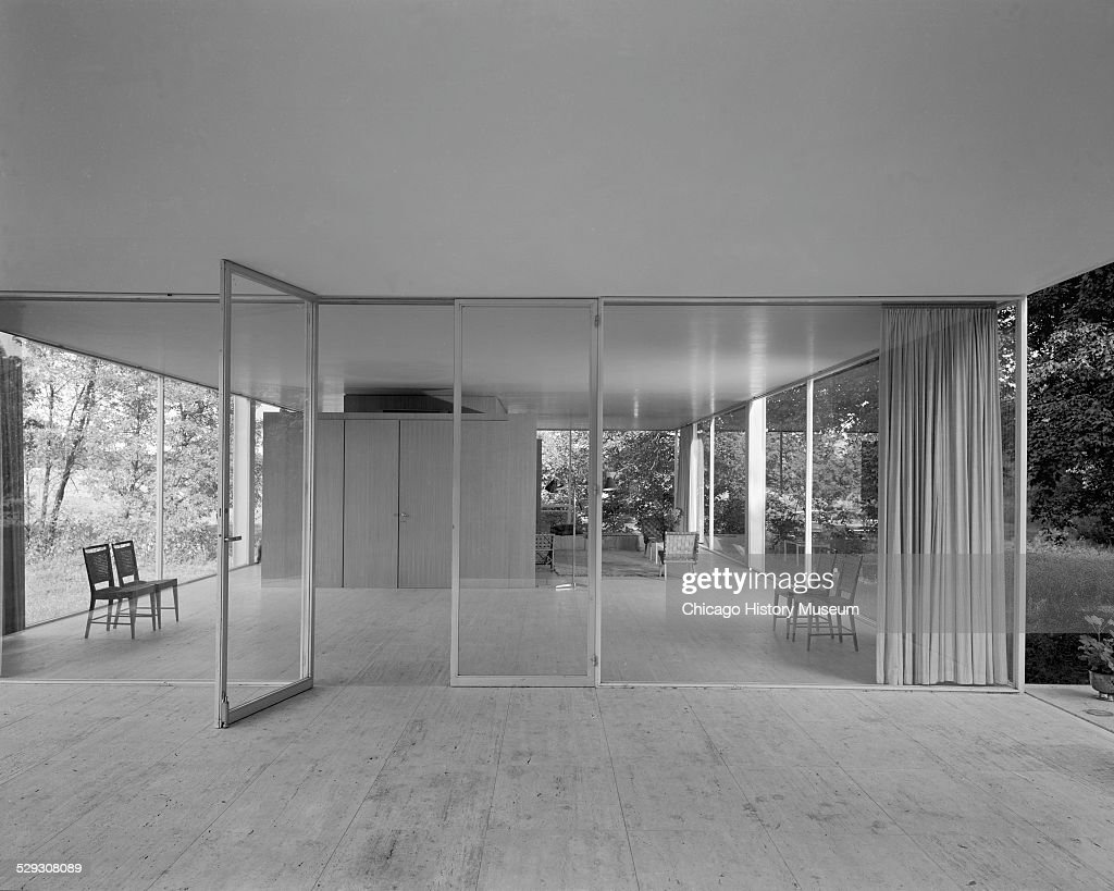 entry and interior of farnsworth house pictures getty images