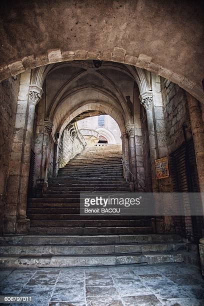 Entry hall of the Sanctuary of Rocamadour, Lot, France