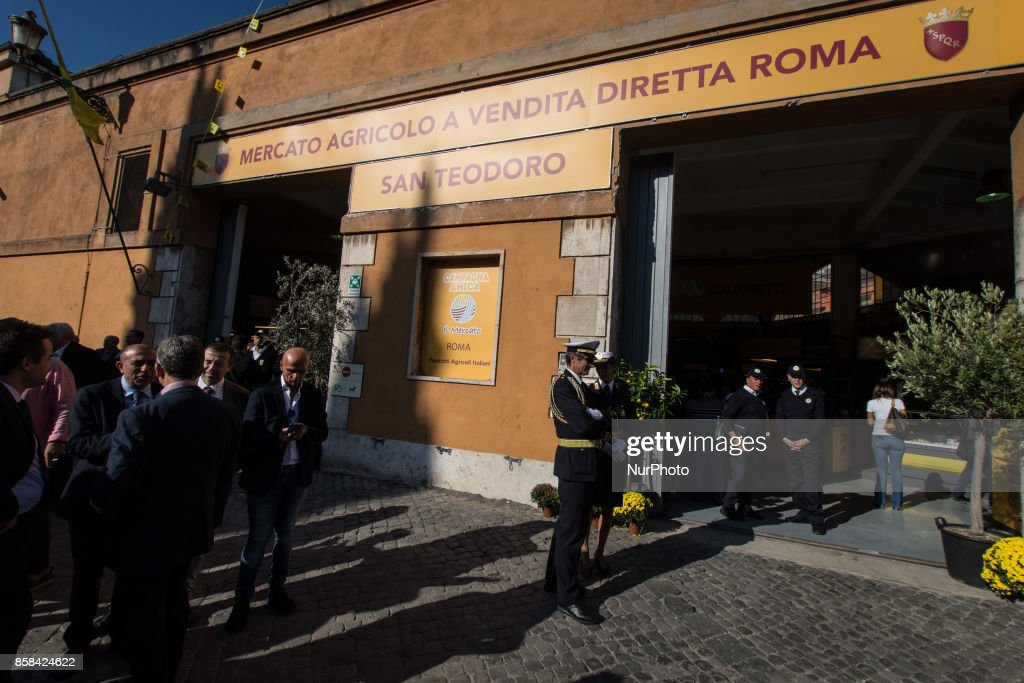 Entry of the new Farmer's Market of San Teodoro at Circus Maximus on 06 October 2017 in Rome, Italy.