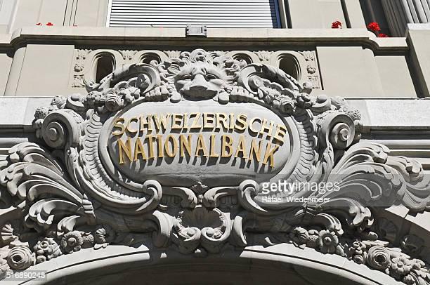 Eingang-portal Swiss Bank (SNB) in Bern