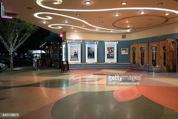 Entryway for the Orinda Theater an artdeco style theater which originally opened in 1941 and continues to operate in Orinda California 2016