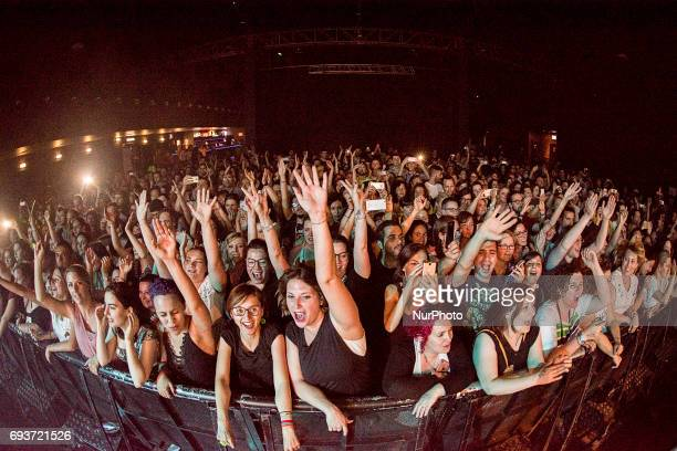 Entusiastic Hanson's fans during the Everywhere 25th Anniversary World Tour that includes a single date in Italy Wednesday June 7 2017 at Fabrique in...