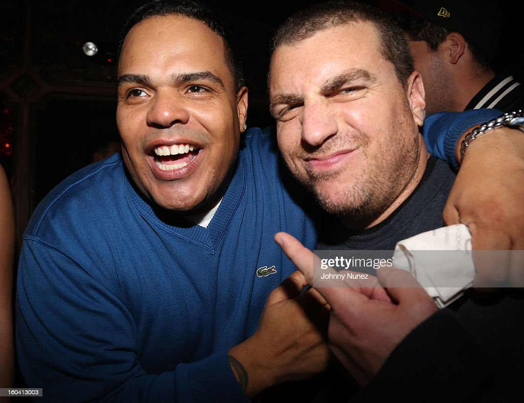 DJ Enuff and Rob Stone attend the DJ Enuff Birthday Celebration at The Griffin on January 30, 2013 in New York City.