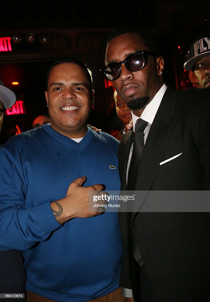 DJ Enuff and Sean 'Diddy' Combs attend the DJ Enuff Birthday Celebration at The Griffin on January 30, 2013 in New York City.