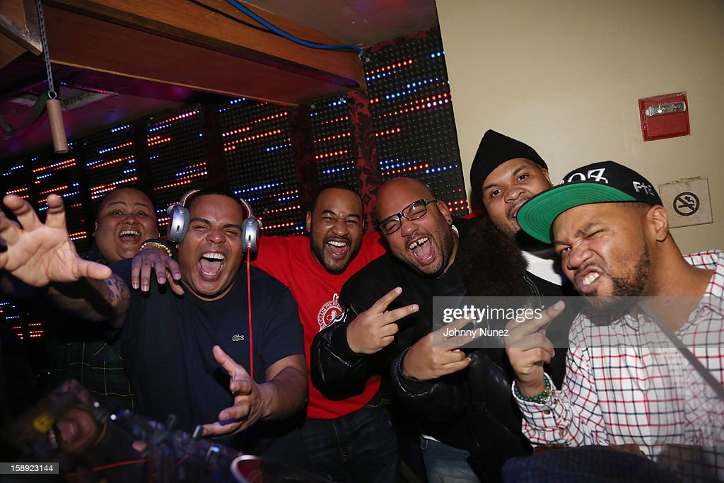 DJ Enuff (second from left) and the Heavy Hitters attend the 'Love & Hip Hop' Season 3 Premiere Party at Kiss & Fly on January 3, 2013 in New York City.