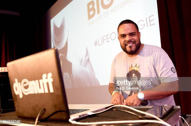 Enuff attends the screening of AE 'Biography Presents Biggie The Life Of Notorious BIG' at DGA Theater on August 17 2017 in New York City