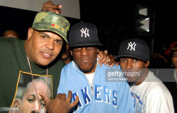 DJ Enuff DJ Goldfinger and DJ Who Kid during Mobb Deep Presents 'Amerikaz Nightmare' Album Release at Spirit in New York City New York United States