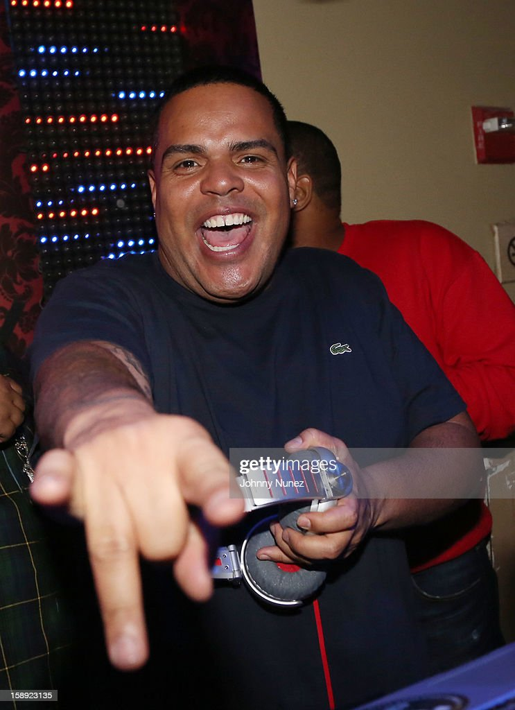 DJ Enuff spins at the 'Love & Hip Hop' Season 3 Premiere Party at Kiss & Fly on January 3, 2013 in New York City.