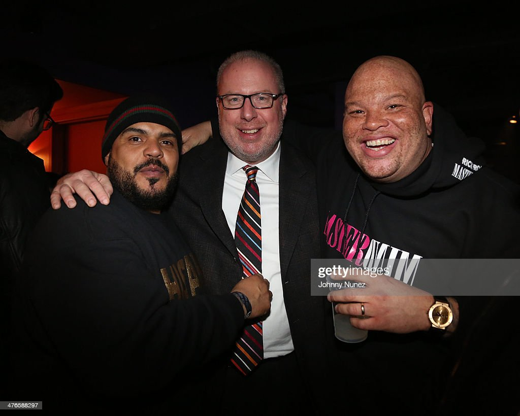 DJ Enuff, Steve Bartels, and Shawn Pecas attend Best Buy Theater on March 3, 2014, in New York City.