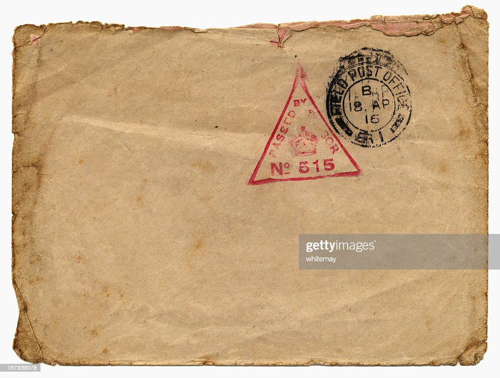 BFPO enveloppe en 1916 : Photo