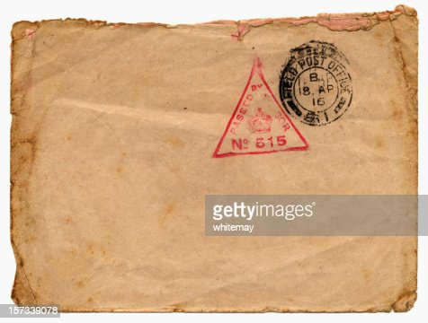 BFPO enveloppe en 1916 : Photo
