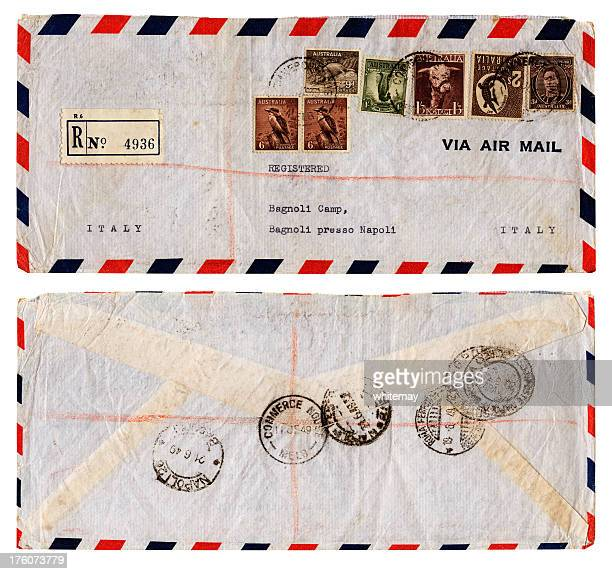 Envelope from Australia to refugee camp in Italy, 1949