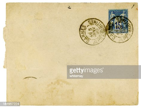 Envelope posted in Cannes, France, 1890